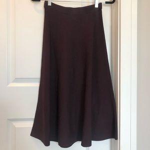 H&M Purple A-Line Knit Skirt